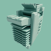 photocopy machine 3d model