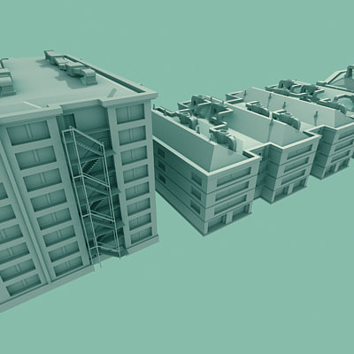 warehouse buildings 3d model