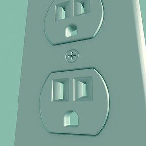 wall switch plug 3d 3ds