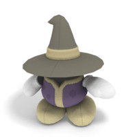 3d model mage plushie