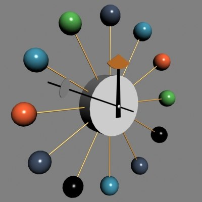 george nelson clock 3d max