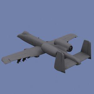 3d a-10 warthog