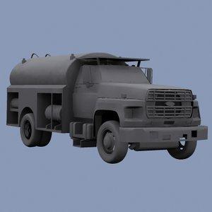 fuel truck 3d model