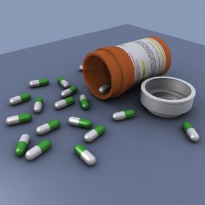 pill bottle medication 3d max