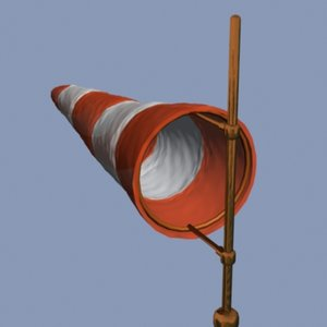 windsock wind 3d model