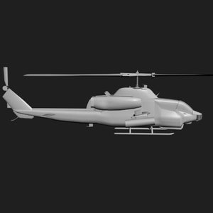 3d model of helicopter