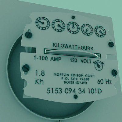 electric meter 3ds