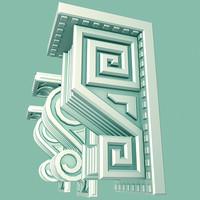 3d model architectural corbels
