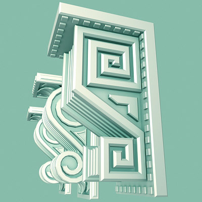 3d model architectural corbels