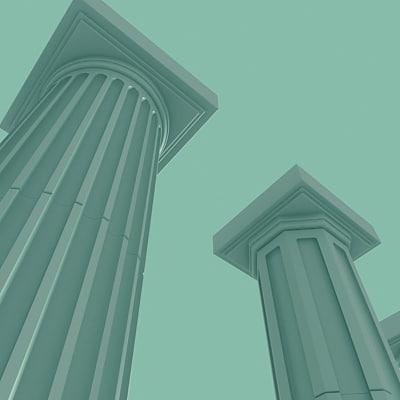 3d model columns roman details