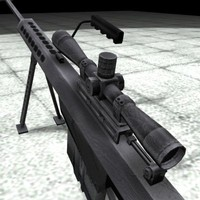 3d model barrett 50 rifle