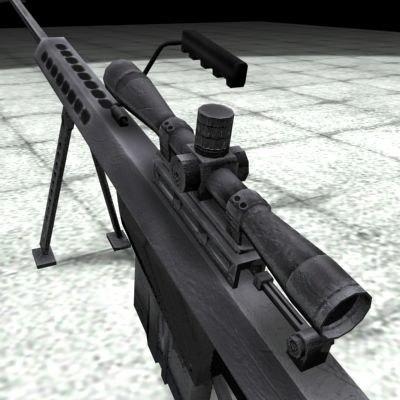 3d model barrett 50 rifle