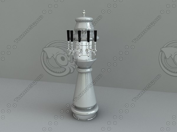 3d draft beer decorative tower