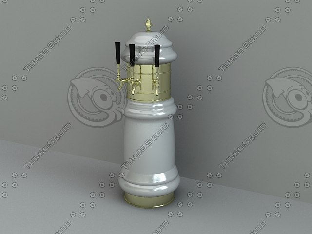3d draft beer decorative tower model