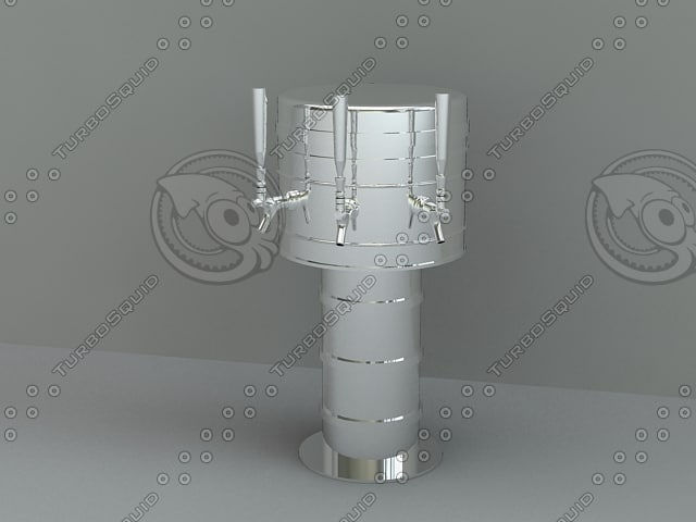 draft beer tower 3d max