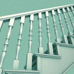 staircase railing 3ds