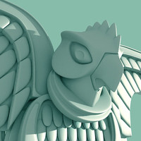 3d model greek eagle statue