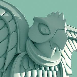 3d model greek eagle statue