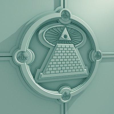crest masonic 3d model