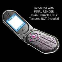 cel phone flip 3d model