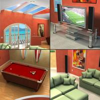 3D Family Room Model