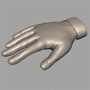 3d gloves hands model