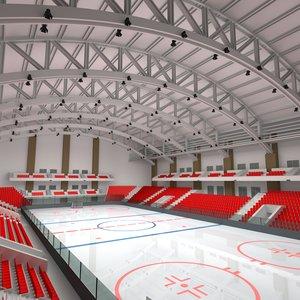 hockey arena rink 3d model