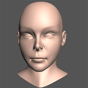 3ds max asian woman head