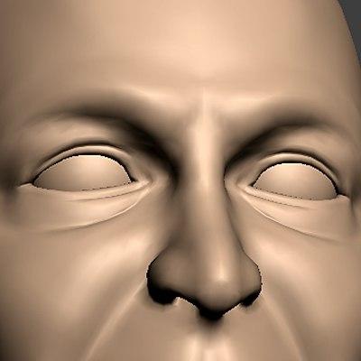 maya realistic male head