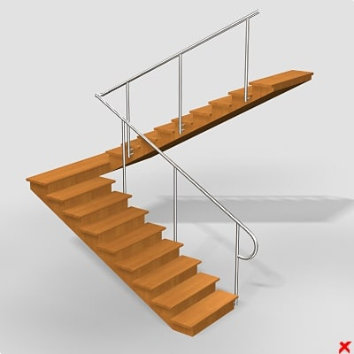 3d model of stairs staircase