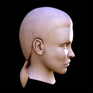 3d model beautiful woman head