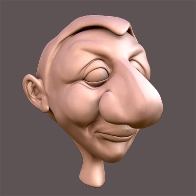 funny head 3d model