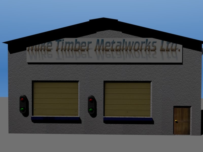 warehouse depot building 3ds free