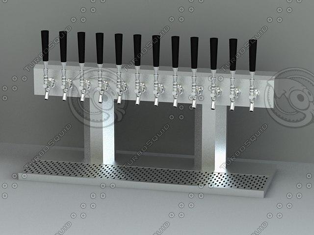 draft beer towers 3d model