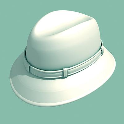 inspector hat 3d model