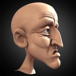 josef character head 3d model