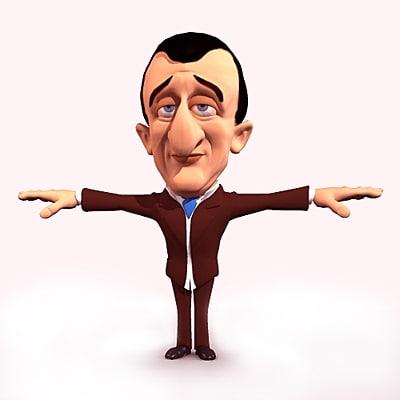 cartoon character guy 3d model