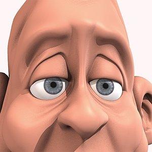 3d model pedro head