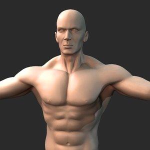 man rigging 3d model