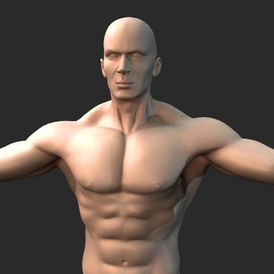 man rigging 3d model