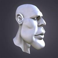 3d model adam head cartoon
