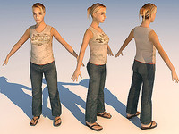 character casual girl 09 3d model