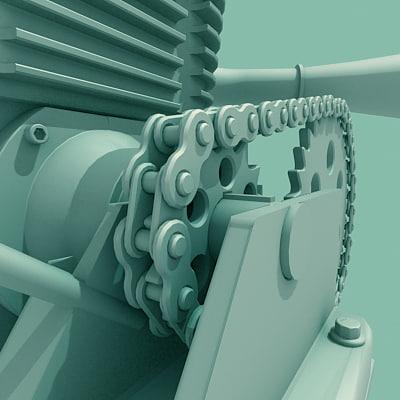 kart motor 3d model