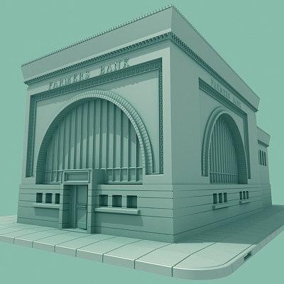 farmers bank 3d model