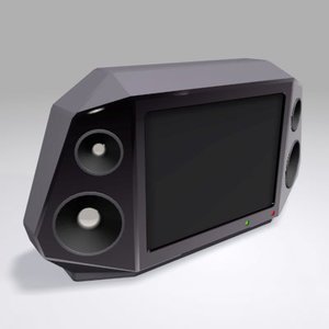 3d model conceptual television set