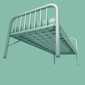 3ds max old cot bed