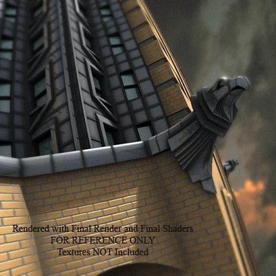 3ds max art deco chrysler buildings