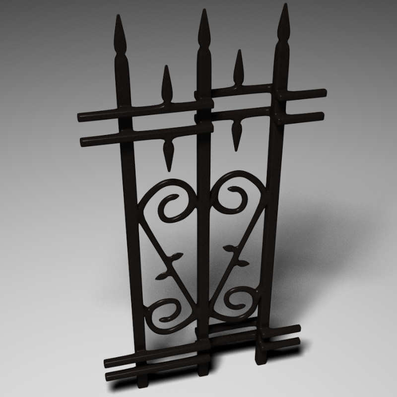 ornate fence 3d model