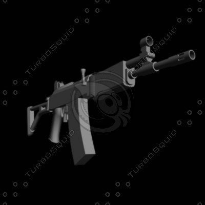 3d ak47 assault rifle model