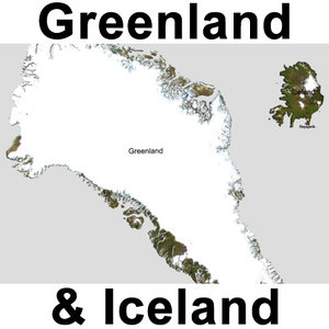 maya topographic greenland iceland